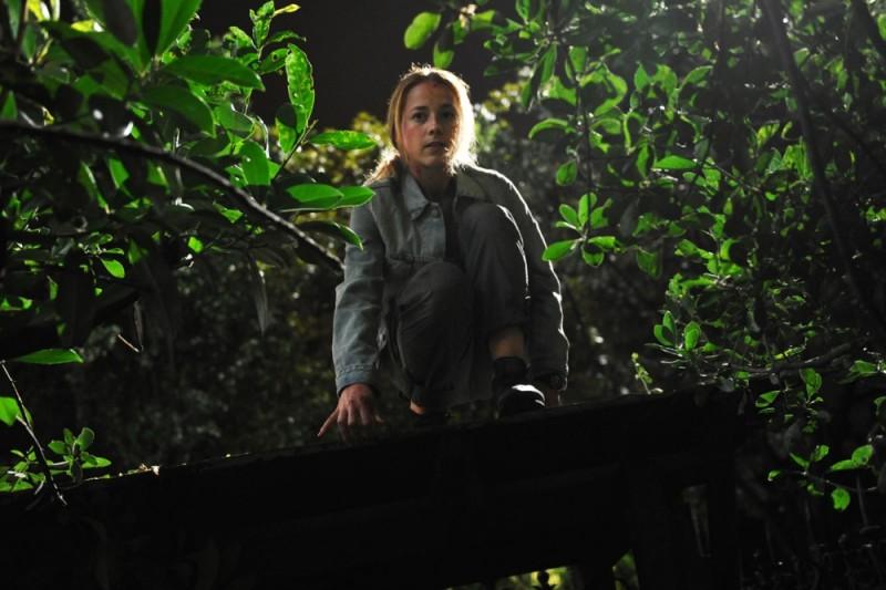Karine Vanasse in un'immagine tratta dall'action thriller Switch