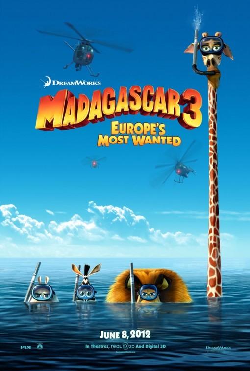 Madagascar 3: primo poster USA