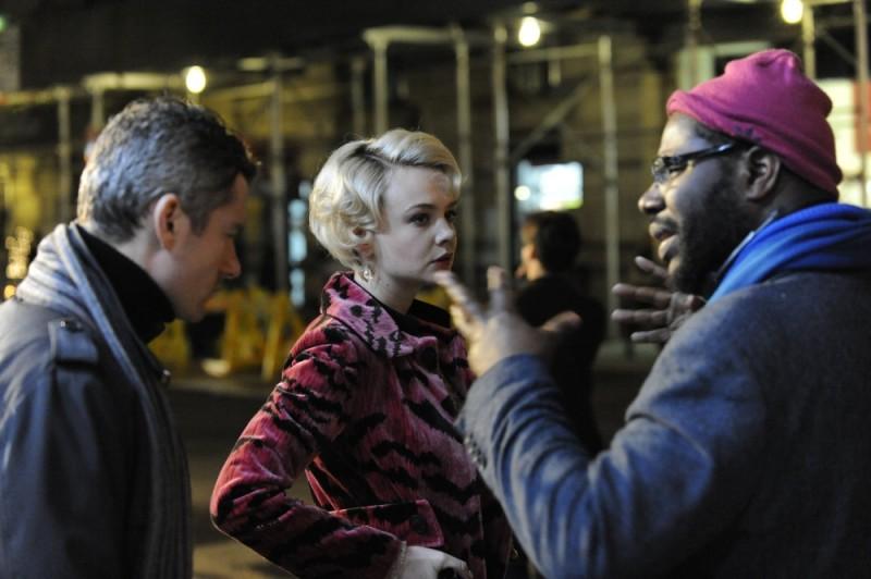 Shame: il regista Steve McQueen sul set del film con Carey Mulligan e James Badge Dale