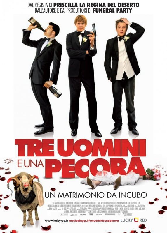 Tre uomini e una pecora, la locandina italiana del film