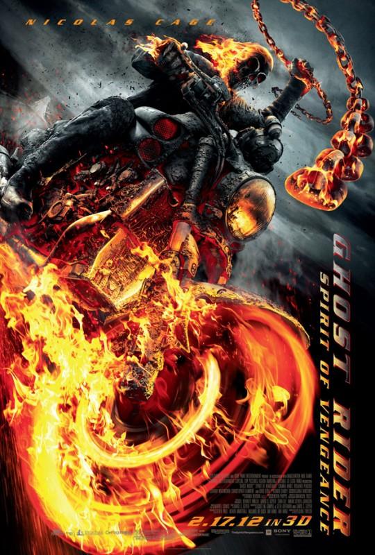 Ghost Rider: Spirit of Vengeance: ecco il nuovo poster mozzafiato