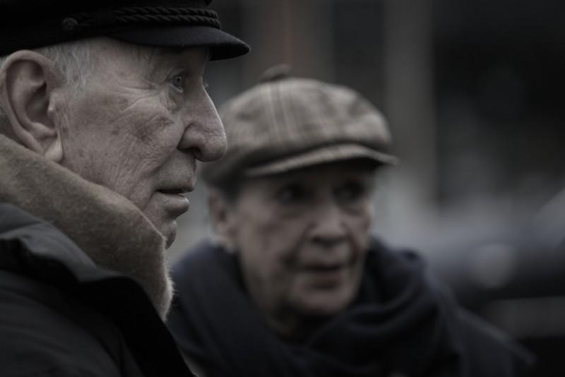 Il regista Giuliano Montaldo sul set del film L'industriale