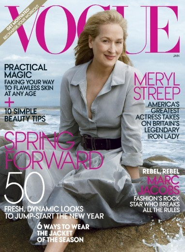 Meryl Streep in cover su VOGUE (dicembre 2011)