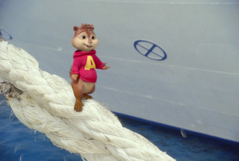 Alvin equilibrista in una scena di Alvin Superstar 3 - Si salvi chi può!