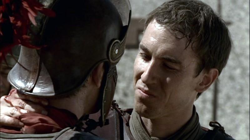 Tobias Menzies in una scena di 'Rome'.