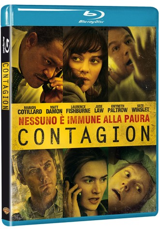 La copertina di Contagion (blu-ray)