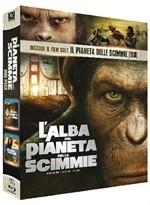 La copertina di L'alba del pianeta delle scimmie + Il pianeta delle scimmie (blu-ray)