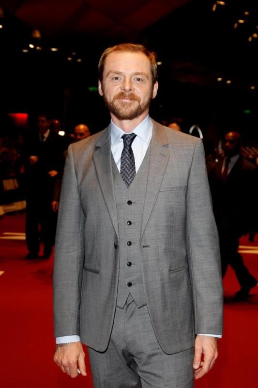 Simon Pegg sul red carpet di Mission: Impossible - Protocollo Fantasma a Monaco
