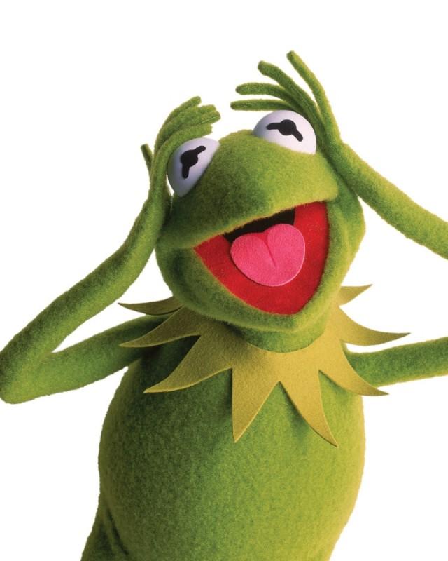 I Muppet: Kermit in una divertente foto promozionale del film