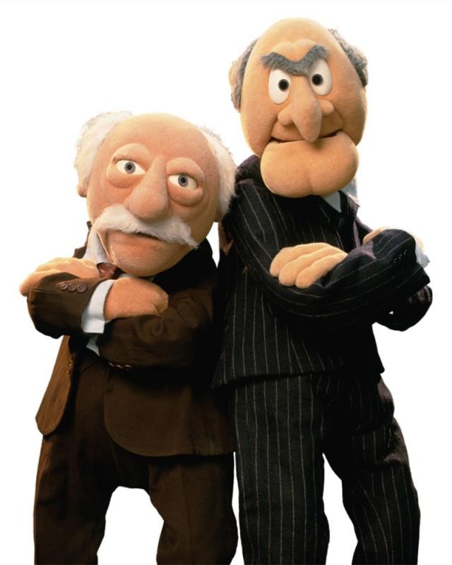 I Muppet: Statler e Waldorf in una foto promozionale del film