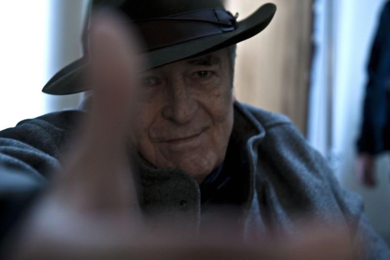 Bernardo Bertolucci sul set di Io e te
