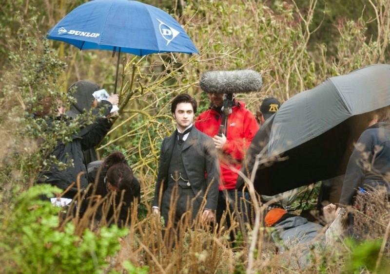 Daniel Radcliffe sul set del film The Woman in Black