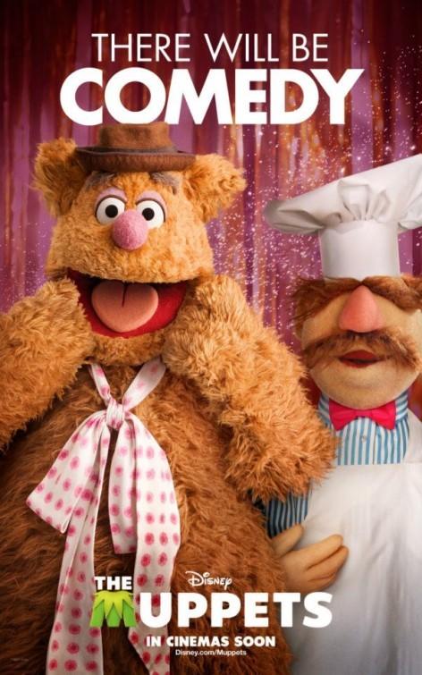 I Muppet: Fozzie Bear e Olaf in un divertente character poster americano del film