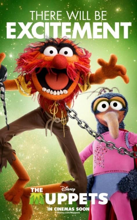I Muppet: Gonzo il Grande e Animal in un divertente character poster americano del film