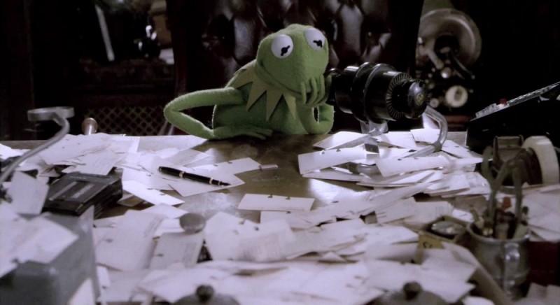 I Muppet: Kermit la rana in una scena del film