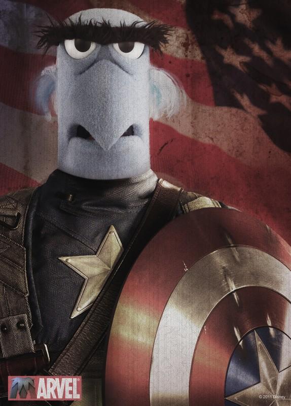 I Muppet: Sam vestito da Capitan America in uno dei poster promozionali