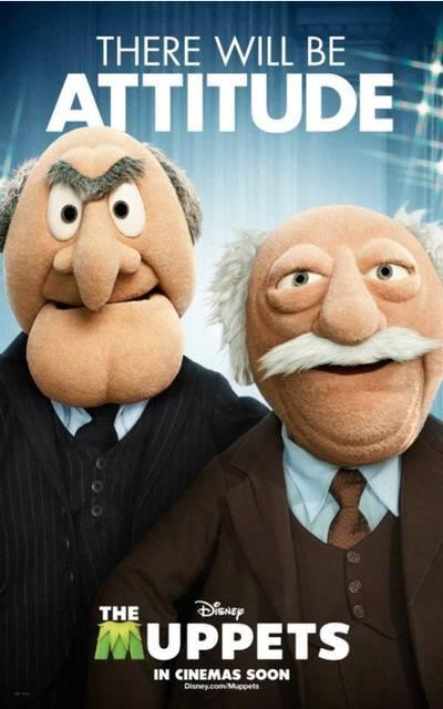 I Muppet: Statler e Waldorf in un divertente character poster americano del film