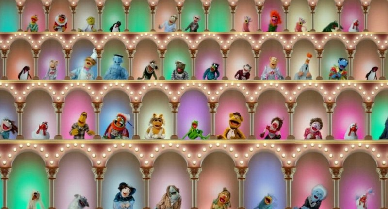 I Muppet: una coloratissima corale scena del film