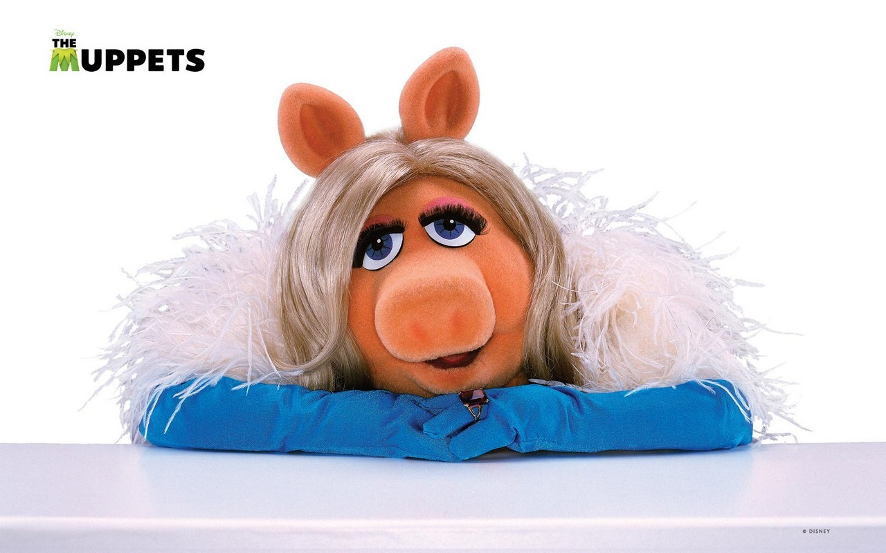 I Muppet: una seducente Miss Piggy in uno dei wallpaper del film