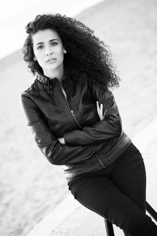 Katia Greco, ritratto in bianco e nero