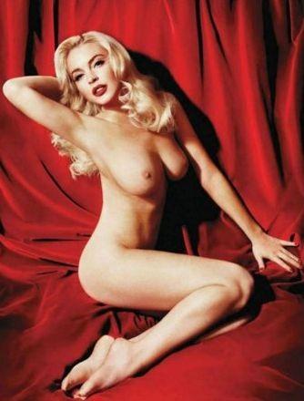 Lindsay Lohan in posa come Marilyn su Playboy