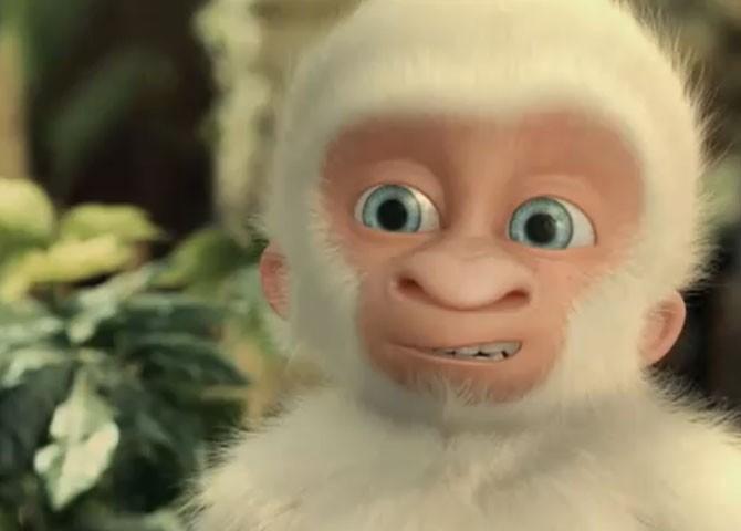 Copito de Nieve - il piccolo gorilla albino protagonista del film