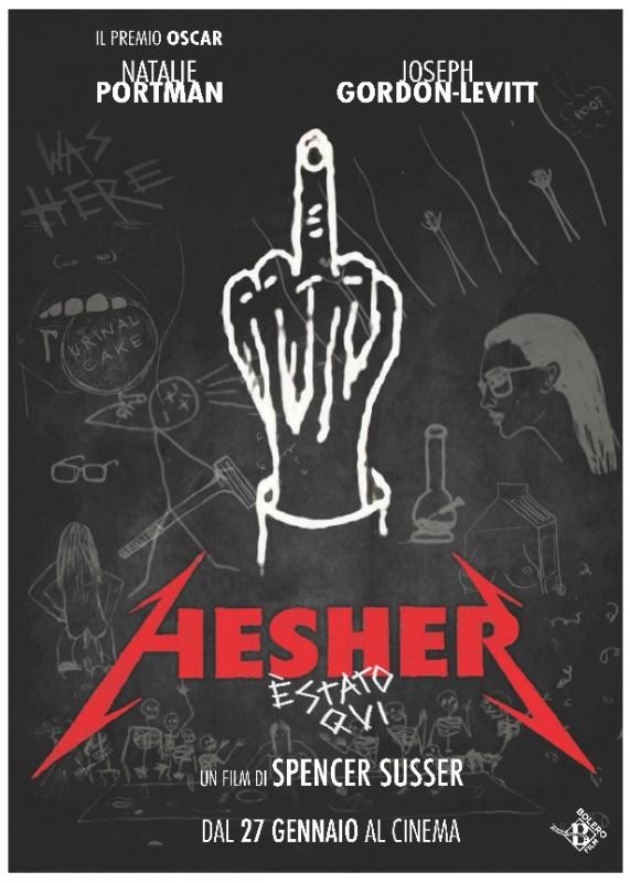Hesher è stato qui: la locandina italiana del film