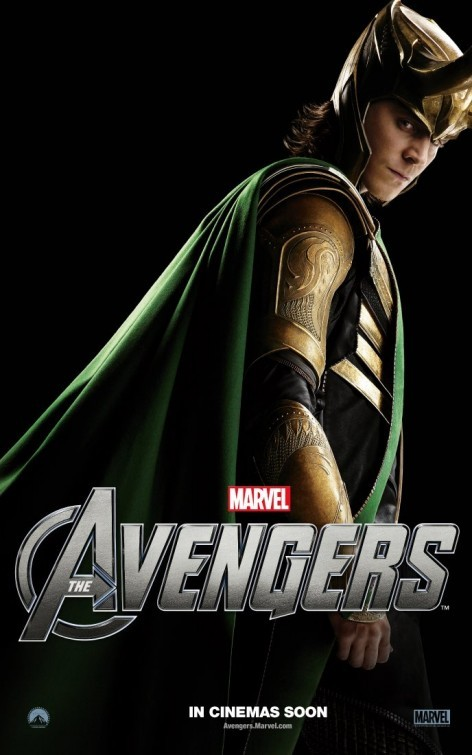The Avengers: Character Poster per Loki - Tom Hiddleston