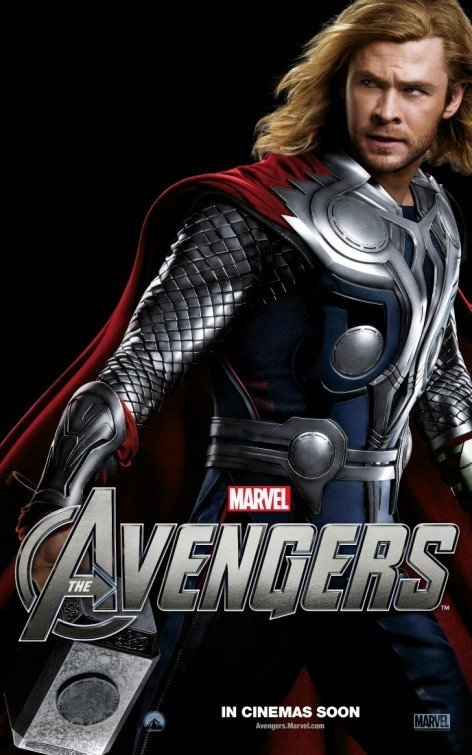 The Avengers: Character Poster per Thor - Chris Hemsworth