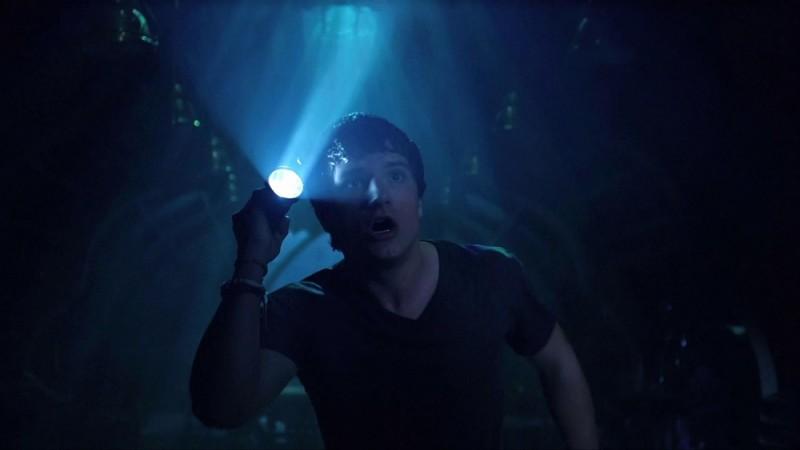 Viaggio nell'isola misteriosa: Josh Hutcherson non crede ai suoi occhi