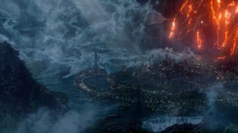 Viaggio nell'isola misteriosa: una foto panoramica tratta dall'avventuroso film diretto da Brad Peyton