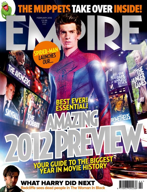 Andrew Garfield svetta nella copertina di Empire dedicata a The Amazing Spider-Man
