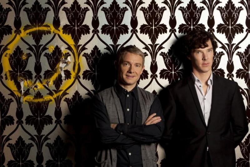 Martin Freeman e Benedict Cumberbatch in coppia per una nuova immagine promozionale della seconda stagione di Sherlock