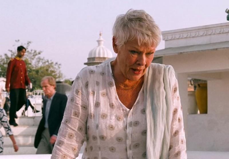 Marigold Hotel: Judi Dench in una scena del film