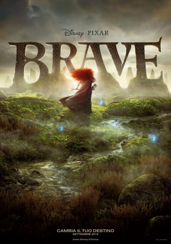 Brave - Coraggiosa e ribelle, la locandina italiana