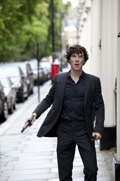 Sherlock: Benedict Cumberbatch in una scena dell'episodio A Scandal in Belgravia