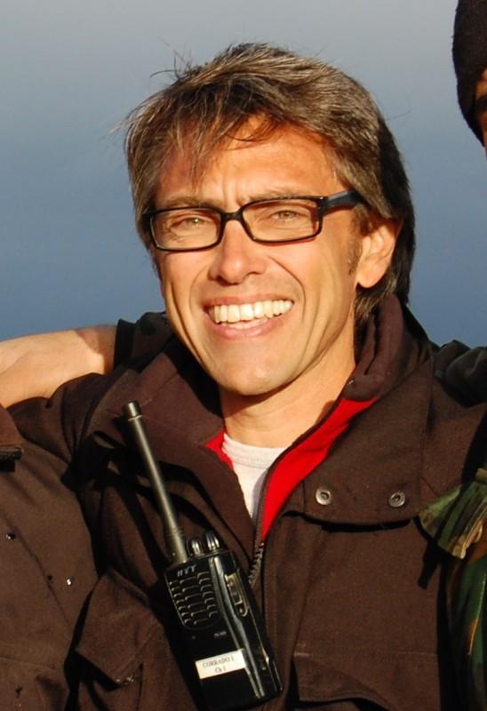 Corrado Trionfera sul set a Oudna (Tunisia) dic 2011