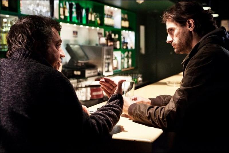 Dictado: Juan Diego Botto insieme al regista Antonio Chavarrías sul set del film