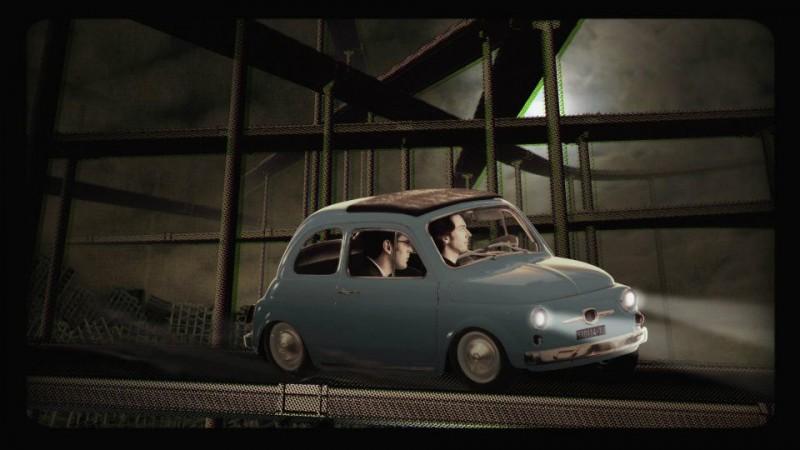 Luca Ragazzi e Gustav Hofer brancolano nel buio in una scena del documentario Italy: Love It, or Leave It