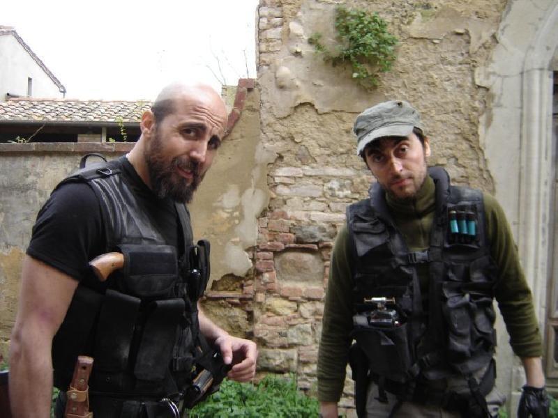 Alex Lucchesi e Guglielmo Favilla sul set di Eaters