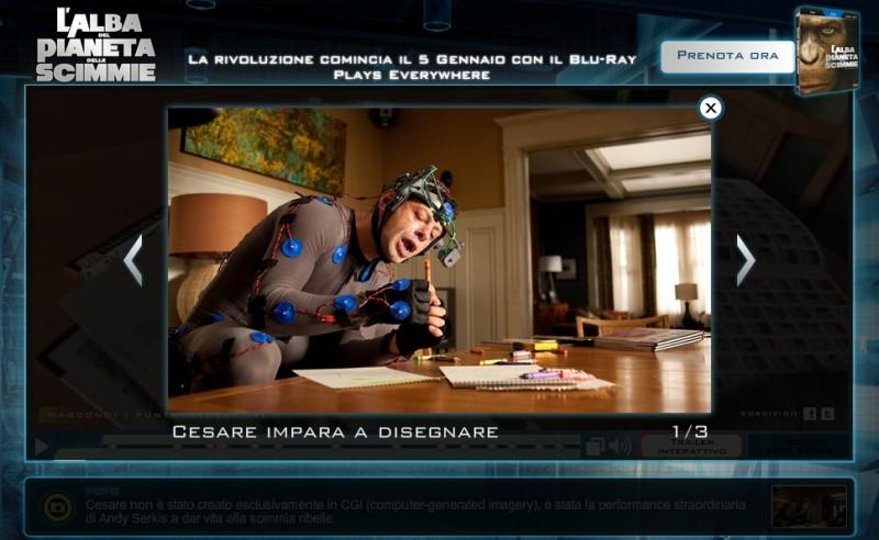 L'alba del pianeta delle scimmie in blu-ray: Andy Serkis nel trailer interattivo 'La nascita di un conflitto'
