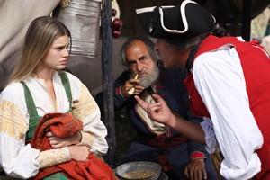 Vanessa Hessler in una scena del film tv di Rai Uno, La figlia del capitano