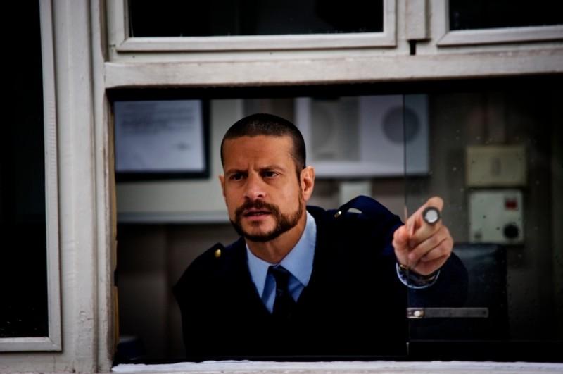 Andrea Sartoretti in un'immagine tratta dal film A.C.A.B. diretto da Stefano Sollima