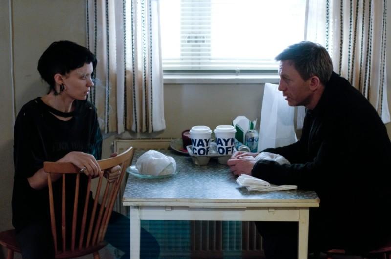 Daniel Craig e Rooney Mara in una scena del film Millennium - Uomini che odiano le donne