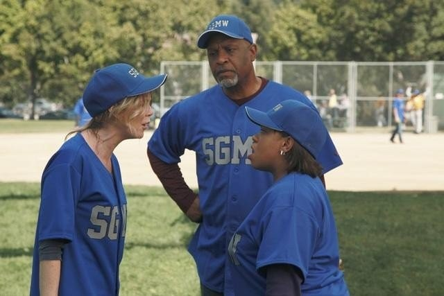 Grey's Anatomy: Ellen Pompeo, Chandra Wilson e James Pickens nell'episodio Put Me in, Coach