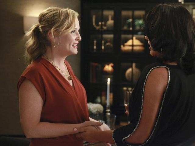 Grey's Anatomy: Jessica Capshaw e Sara Ramirez nell'episodio Love, Loss and Legacy