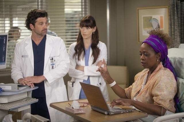 Grey's Anatomy: Patrick Dempsey, Alfre Woodard e Chyler Leigh nell'episodio Heart-Shaped Box
