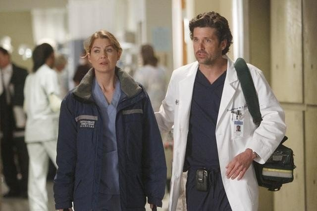 Grey's Anatomy: Patrick Dempsey ed Ellen Pompeo nell'episodio Dark Was the Night