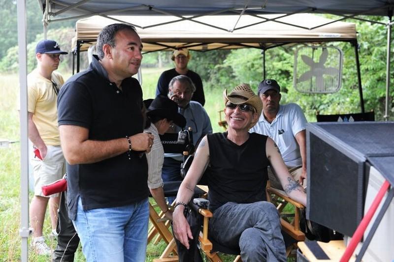 Billy Bob Thornton sul set di Jayne Mansfield's Car con il produttore Aleksander Rodnyansky