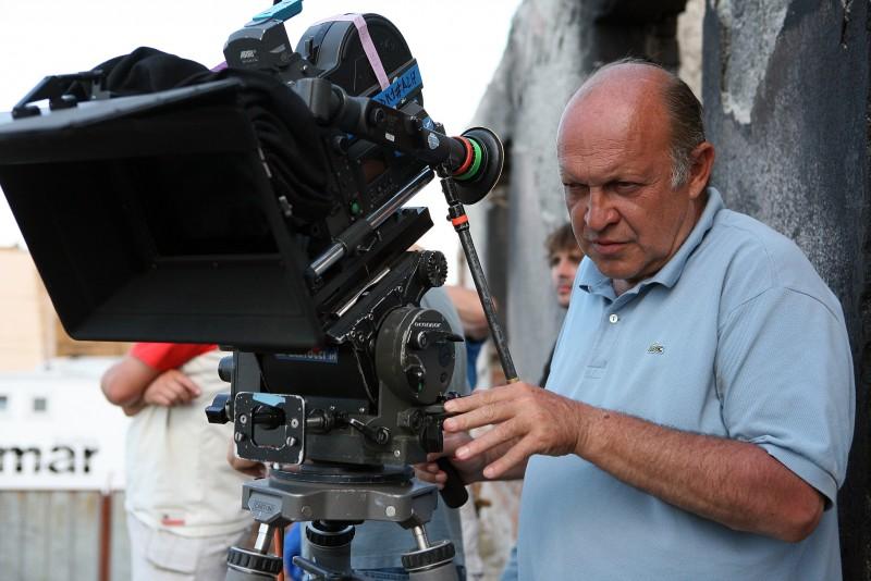 Claudio Bonivento sul set della miniserie di Rai Uno, Anita